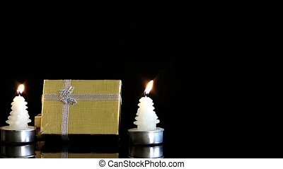 Gift Box and Christmas Candles