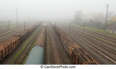Freight train station - Cargo trans