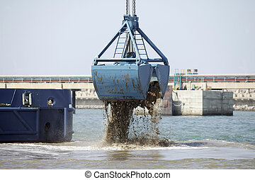 Harbor Dredging - Dredging in a Industrial Harbor near...