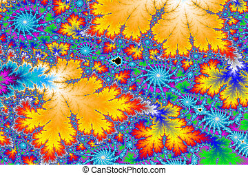 Colorful fractal background - a digitally generated colorful...