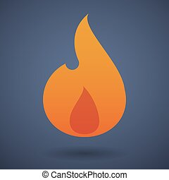 Flame icon - Illustration of a flame icon