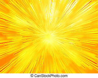 Burst streaks of light