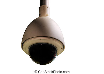isolated security camera