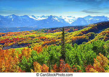 Kebler pass - Beautiful landscape in autumn time at Kebler...