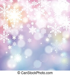winter background with snowflakes. festive vector...