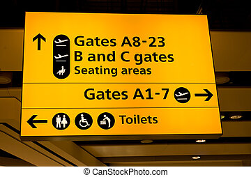 Heathrow airport - Departure hall of Heathrow International...