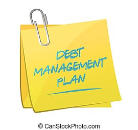 debt management plan memo post illustration design over a...