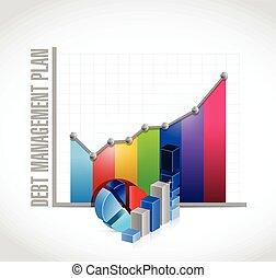 debt management plan business graph iillustration design...