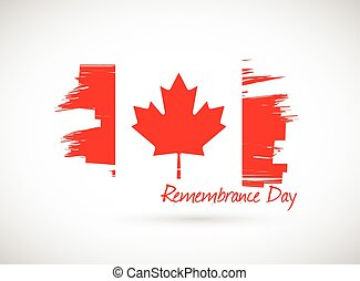 canada remembrance day illustration