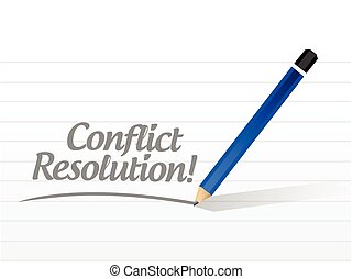 conflict resolution message illustration design over a white...
