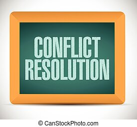 conflict resolution sign message illustration design over a...