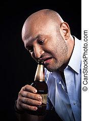 man emotionally open beer teeth - man very emotionally open...