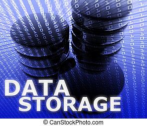 Daten, lagerung, abbildung