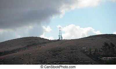 Communications Tower - Communications tower and antennas...