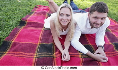 Funny Couple on picnic