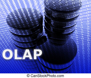 OLAP data illustration - OLAP data abstract, computer...