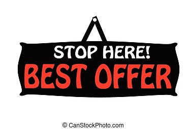 Best offer - Rubber stamps with text best offer inside,...