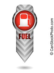 Energy concept with fuel station icon