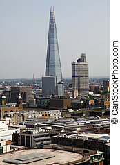 The Shard and Southwark Bridge in London, United Kingdom,...