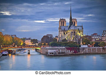 Notre Dame Cathedral, Paris. - Image of Notre Dame Cathedral...