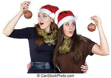 Photo of two surprised young women