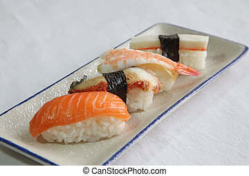 Assorted sushi - Assorted japanese sushi seafood maki rolls...