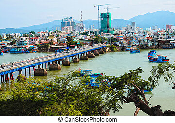 Bridge City, Vietnam - view of the city Nha trang