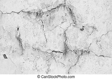 Old weathered wall with white paint peeling off