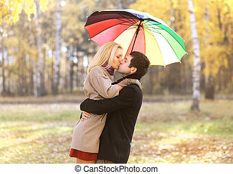 Love, relationship, engagement and people concept - happy...