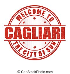 Welcome to Cagliari stamp - Welcome to Cagliari, the city of...