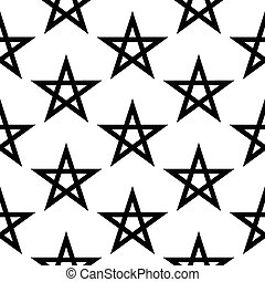 Pentagram button seamless pattern on white background Vector...