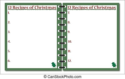 12 Recipes of Christmas Notepad - A 12 Recipes of Christmas...
