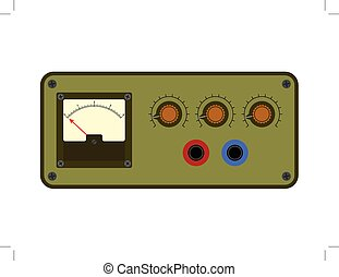 Analogical control panel - Vector illustration of analogical...