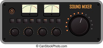 Sound mixer - Vector illustration of a sound mixer control...