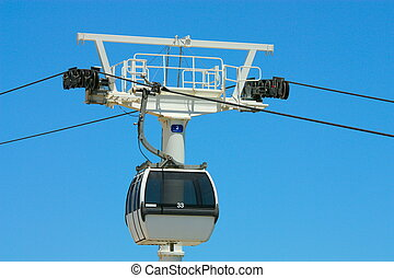 Passenger ropeway in Lisbon Portugal