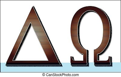 Alpha Omega Letters - The Greek letters for Alpha Omega
