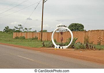 Equator, Uganda - Equator marker, Uganda