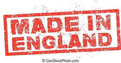 made in england red stamp vector