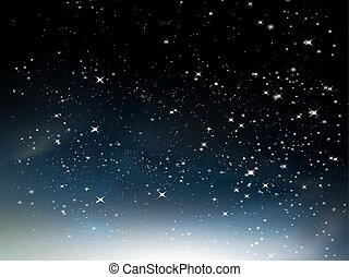 Night sky with clouds nebula vector background