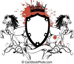 heraldic horse coat of arms crest1