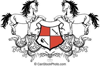 heraldic horse coat of arms crest3