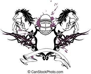 heraldic horse coat of arms crest6 - heraldic horse coat of...