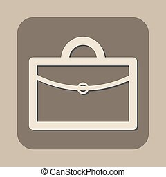 briefcase vector icon logo design