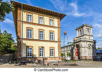 old town of Baden-Baden Germany with view to historic museum...