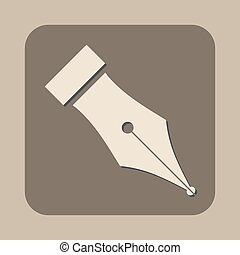 fountain pen symbol vector icon