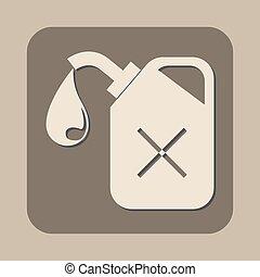 petrol fuel can vector icon
