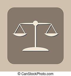scales vector icon