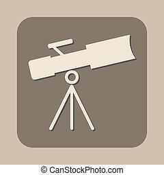 telescope vector icon