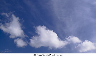 fluffy clouds, blue sky timelapse - A timelapse clip of...