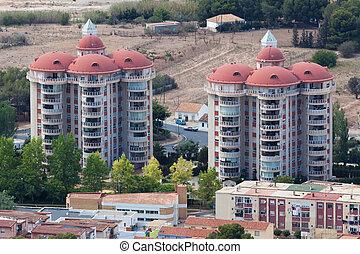Residential buildings in Spain